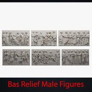 Bas Relief Male Figures 3d model