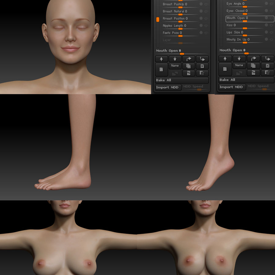 Famale royalty-free 3d model - Preview no. 8