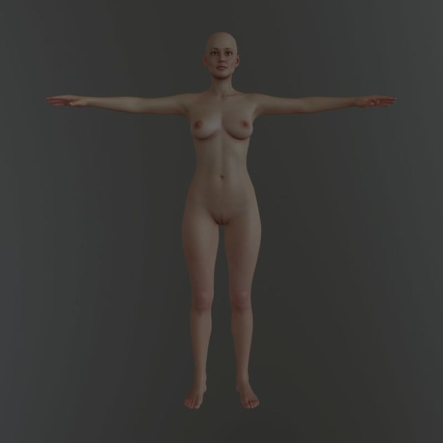 Famale royalty-free 3d model - Preview no. 4