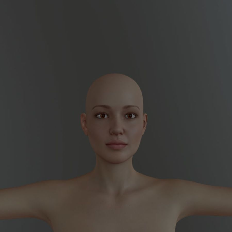 Famale royalty-free 3d model - Preview no. 1