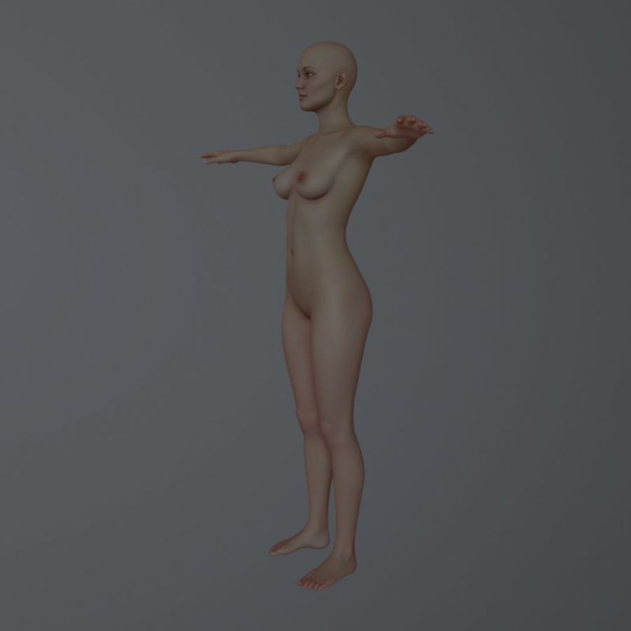 Famale royalty-free 3d model - Preview no. 6