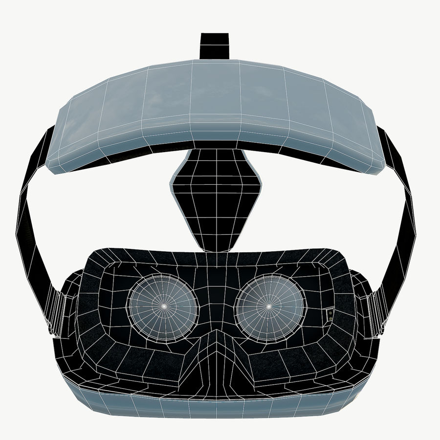 Gear VR headset low poly royalty-free 3d model - Preview no. 9