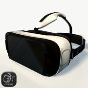 Gear VR Headset mit niedrigem Poly 3d model