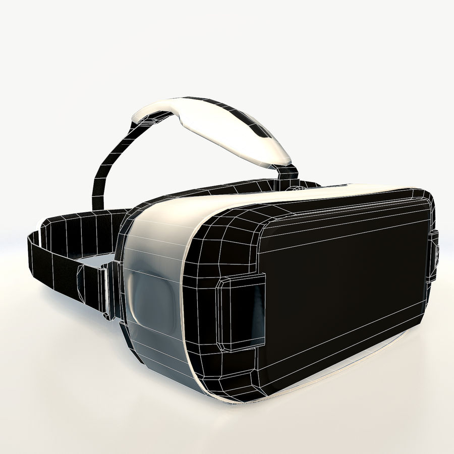 Gear VR headset low poly royalty-free 3d model - Preview no. 8