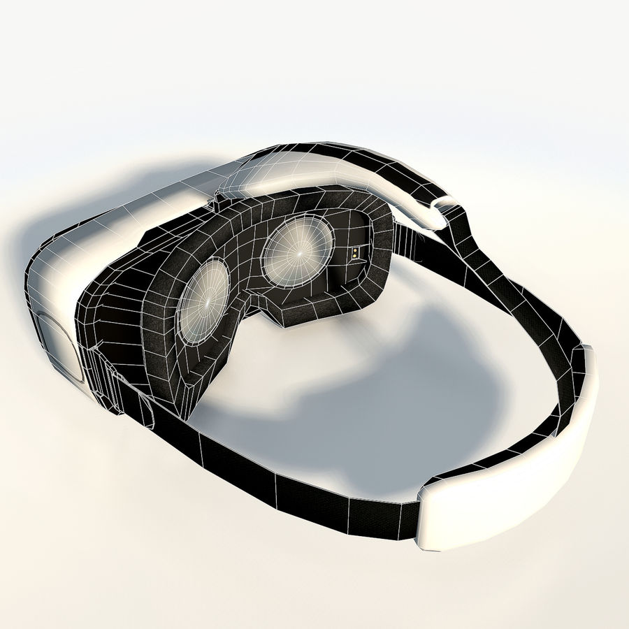 Gear VR headset low poly royalty-free 3d model - Preview no. 10