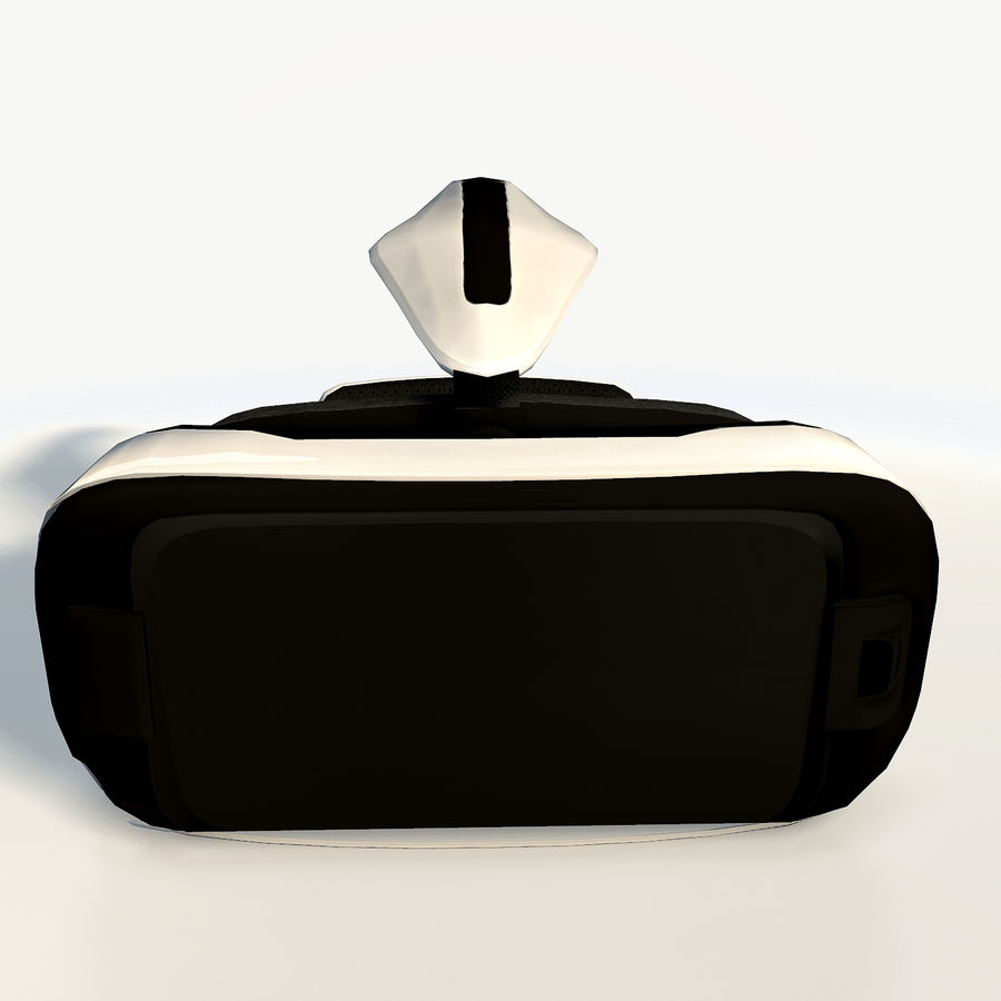 Gear VR headset low poly royalty-free 3d model - Preview no. 6