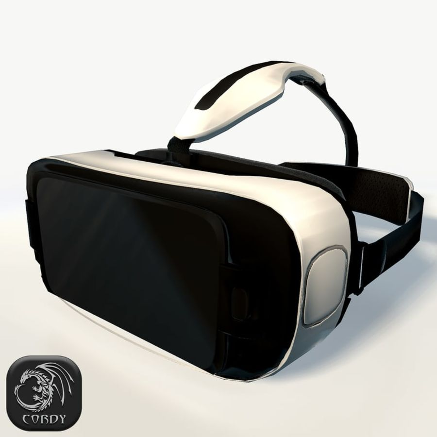 Gear VR headset low poly 3D Model $19 -  unknown  obj  max  fbx  dae