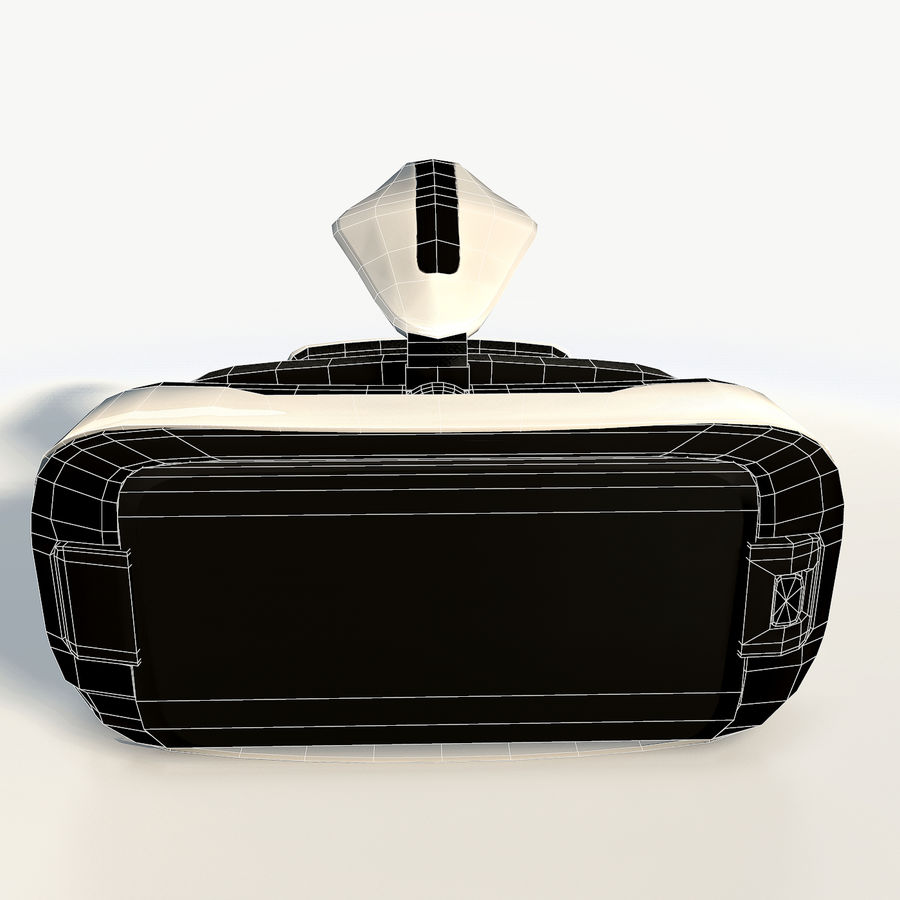 Gear VR headset low poly royalty-free 3d model - Preview no. 11