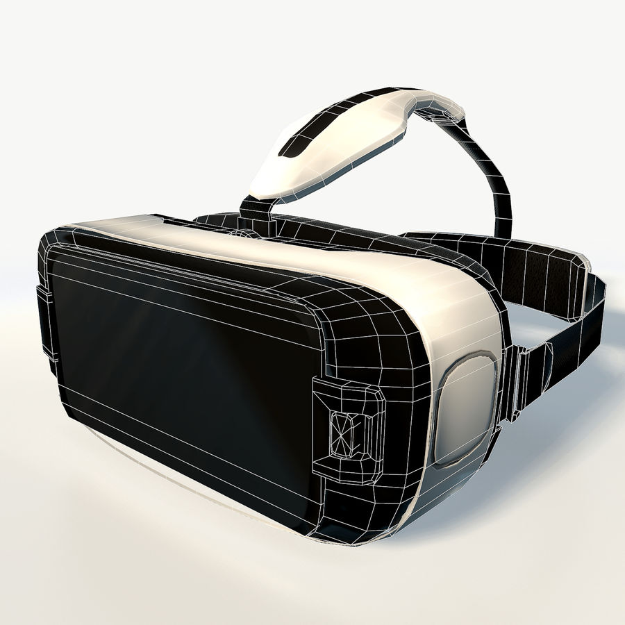 Gear VR headset low poly royalty-free 3d model - Preview no. 7