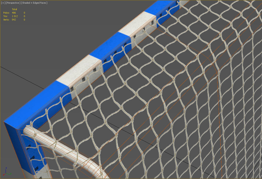 Soccer Goal royalty-free 3d model - Preview no. 7