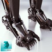 Robot bacakları 3d model