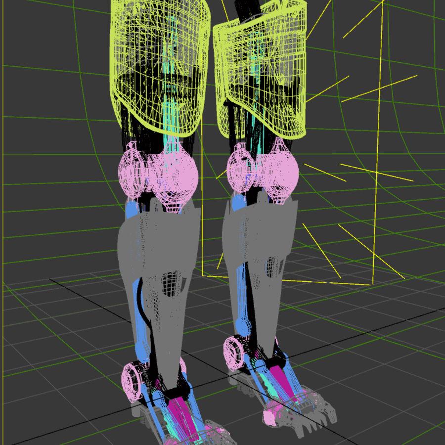 로봇 다리 royalty-free 3d model - Preview no. 12