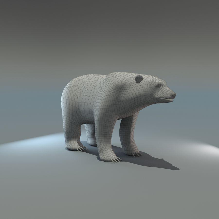 Niedźwiedź polarny royalty-free 3d model - Preview no. 8