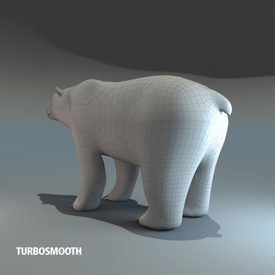Niedźwiedź polarny royalty-free 3d model - Preview no. 4