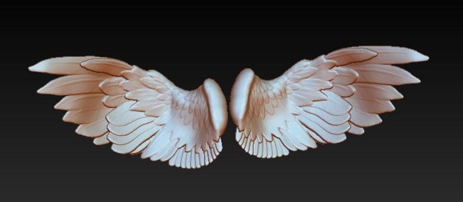 Coppia di ali di uccello / angelo / aquila / animale royalty-free 3d model - Preview no. 5