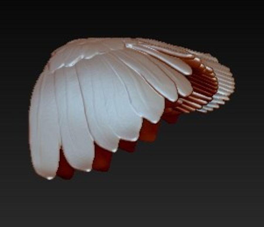Coppia di ali di uccello / angelo / aquila / animale royalty-free 3d model - Preview no. 4