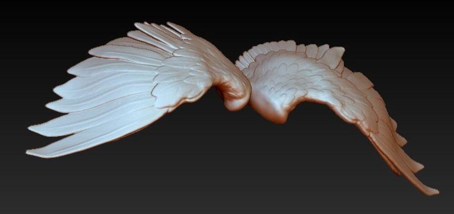 Coppia di ali di uccello / angelo / aquila / animale royalty-free 3d model - Preview no. 1