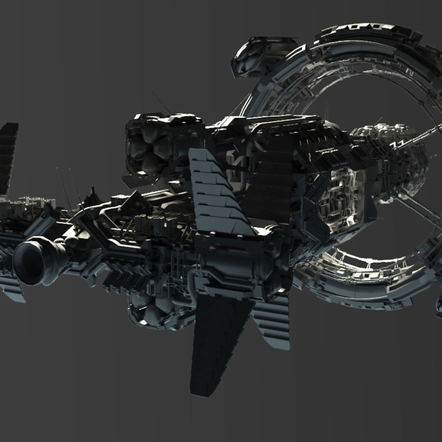 Space Ship royalty-free 3d model - Preview no. 2