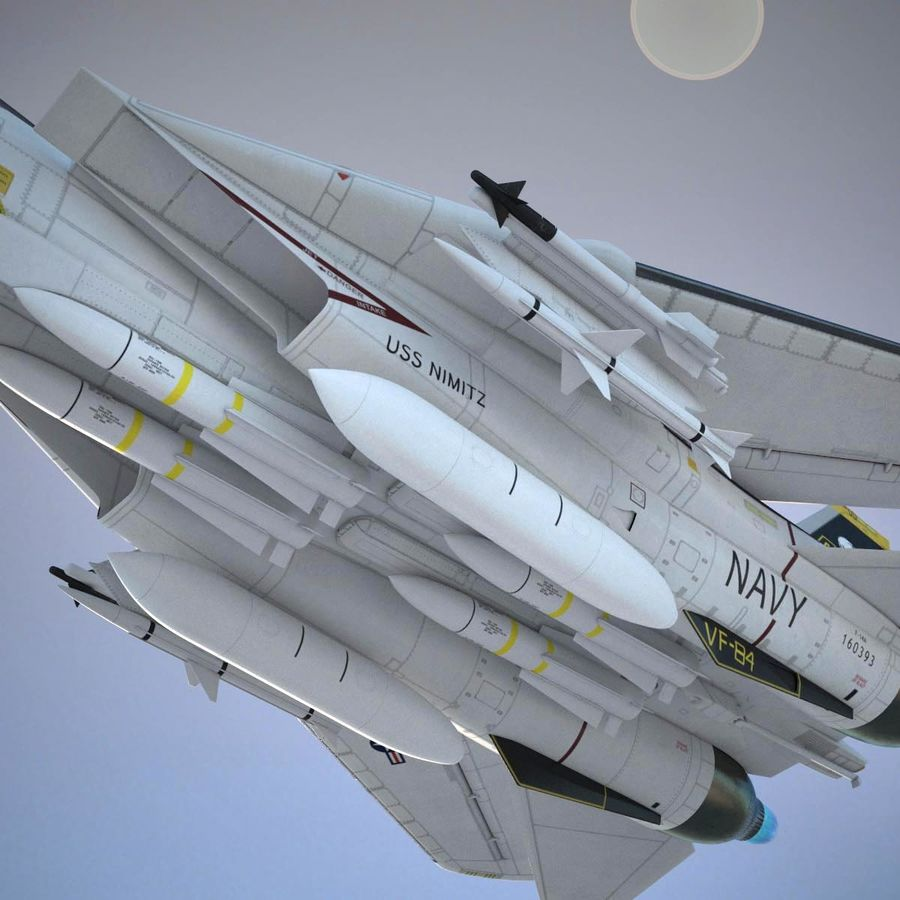F-14A Tomcat VF-84 Jolly Rogers 1977 royalty-free 3d model - Preview no. 8
