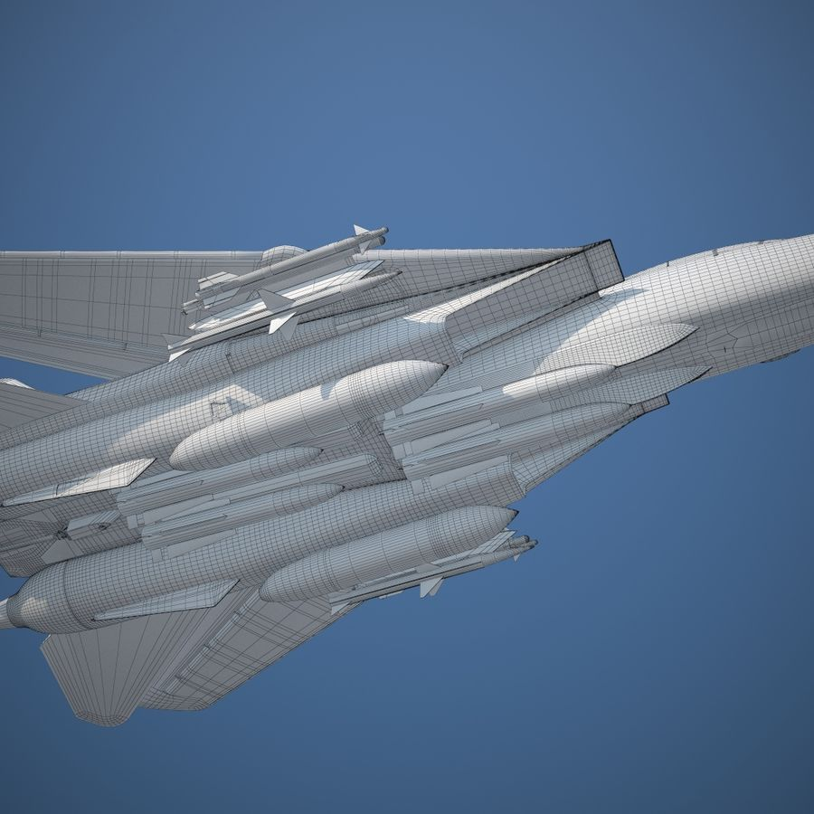 F-14A Tomcat VF-84 Jolly Rogers 1977 royalty-free 3d model - Preview no. 26