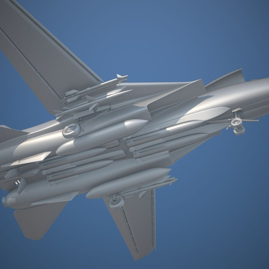F-14A Tomcat VF-84 Jolly Rogers 1977 royalty-free 3d model - Preview no. 22