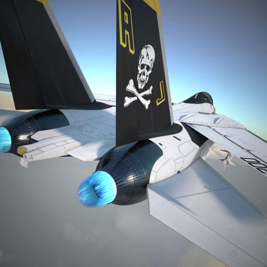F-14A Tomcat VF-84 Jolly Rogers 1977 royalty-free 3d model - Preview no. 34