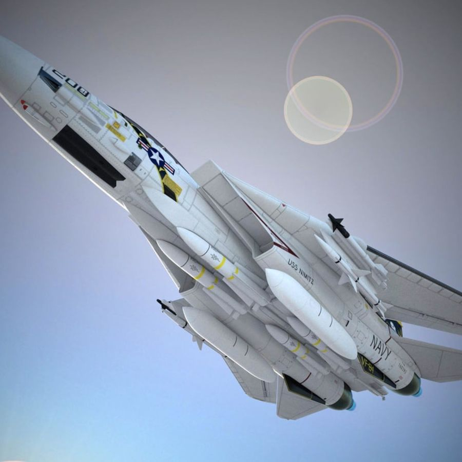 F-14A Tomcat VF-84 Jolly Rogers 1977 royalty-free 3d model - Preview no. 36
