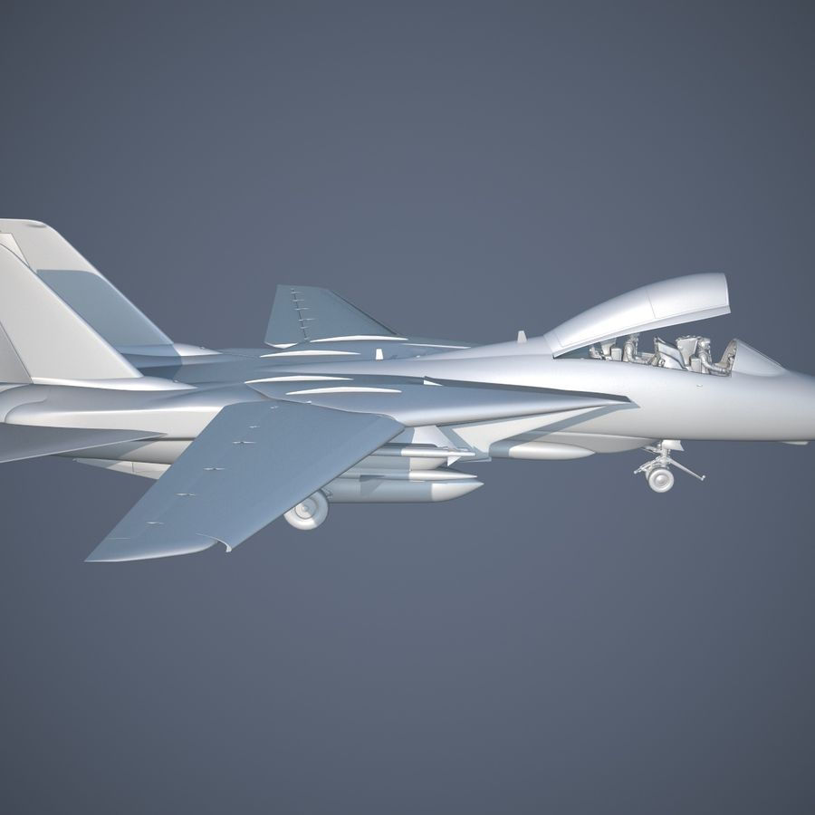F-14A Tomcat VF-84 Jolly Rogers 1977 royalty-free 3d model - Preview no. 23