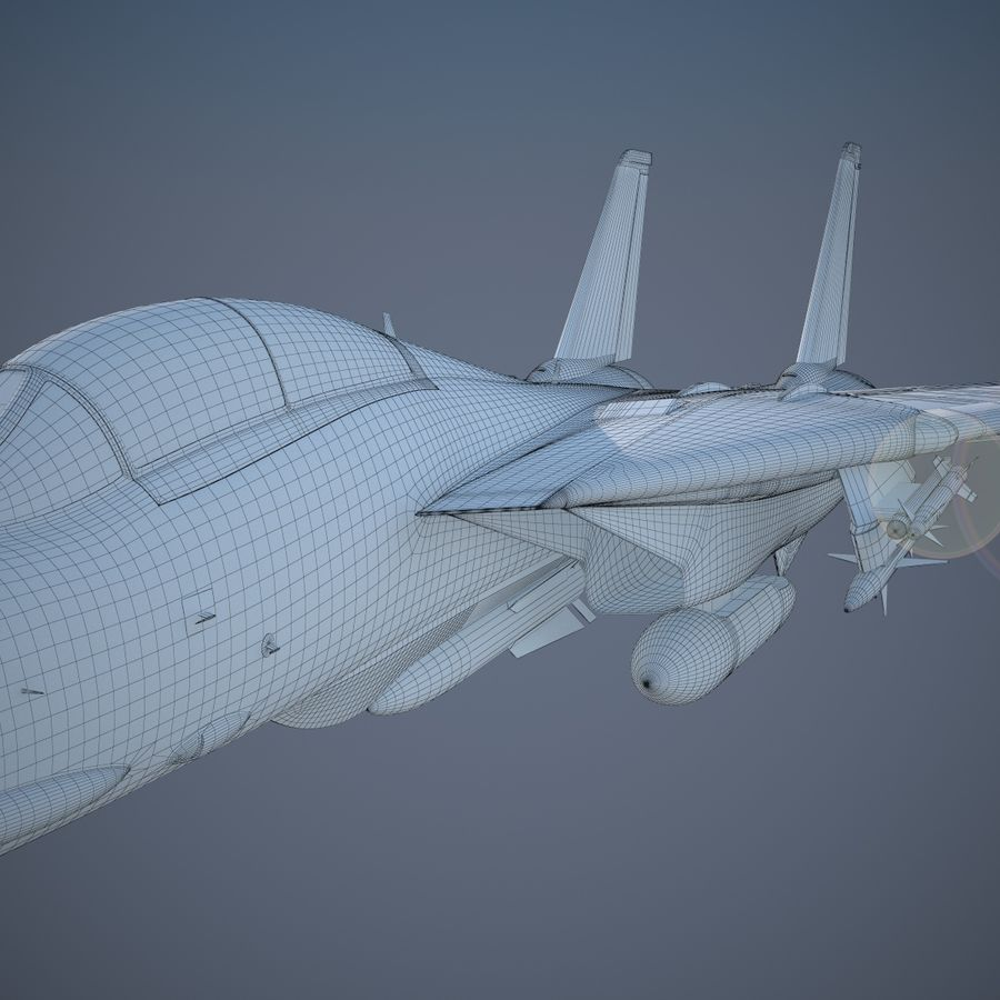F-14A Tomcat VF-84 Jolly Rogers 1977 royalty-free 3d model - Preview no. 28