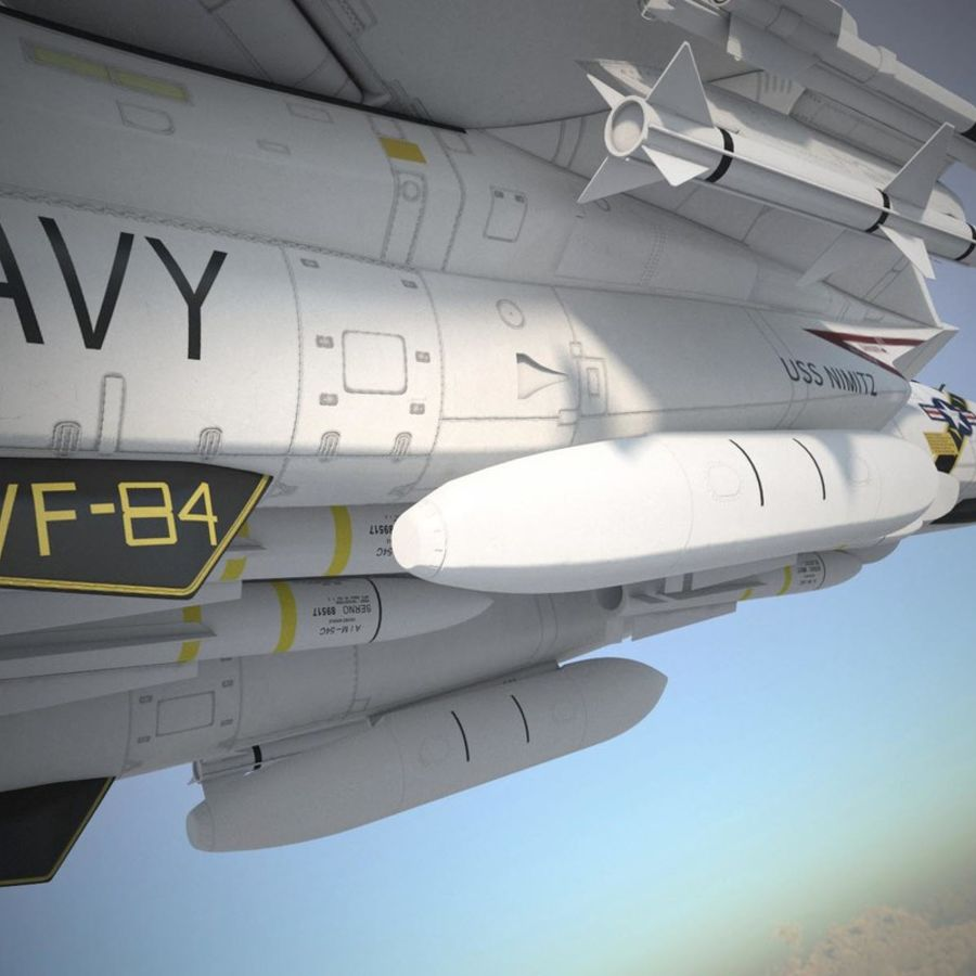 F-14A Tomcat VF-84 Jolly Rogers 1977 royalty-free 3d model - Preview no. 42