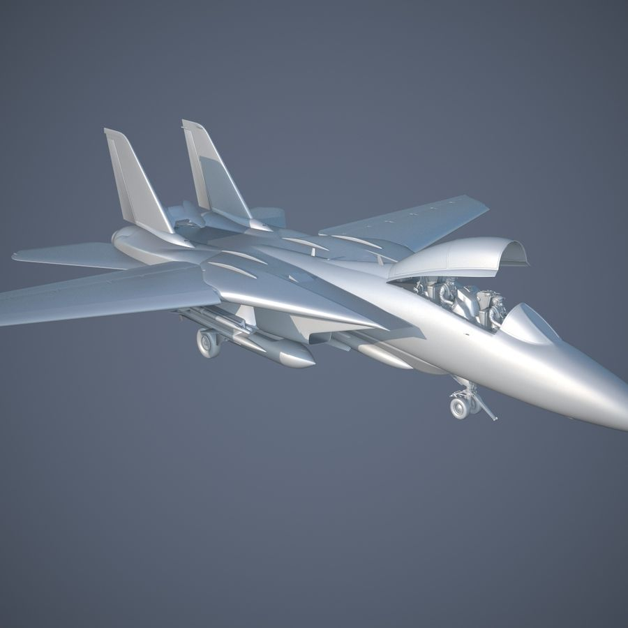 F-14A Tomcat VF-84 Jolly Rogers 1977 royalty-free 3d model - Preview no. 21