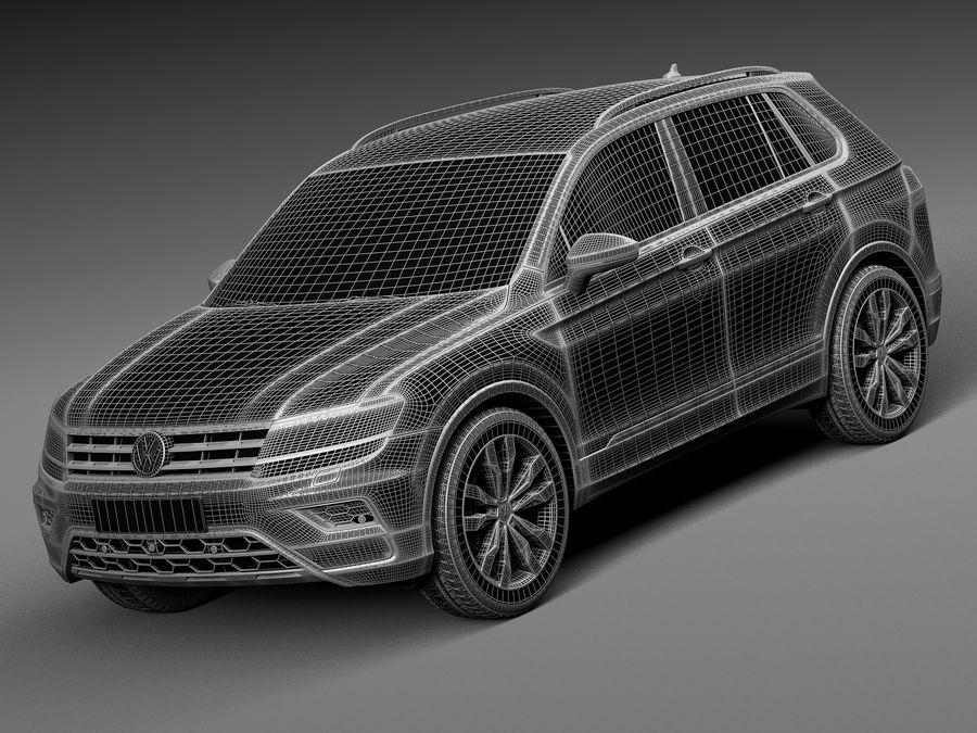 Volkswagen Tiguan 2017 royalty-free 3d model - Preview no. 13
