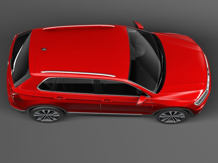 Volkswagen Tiguan 2017 royalty-free 3d model - Preview no. 8