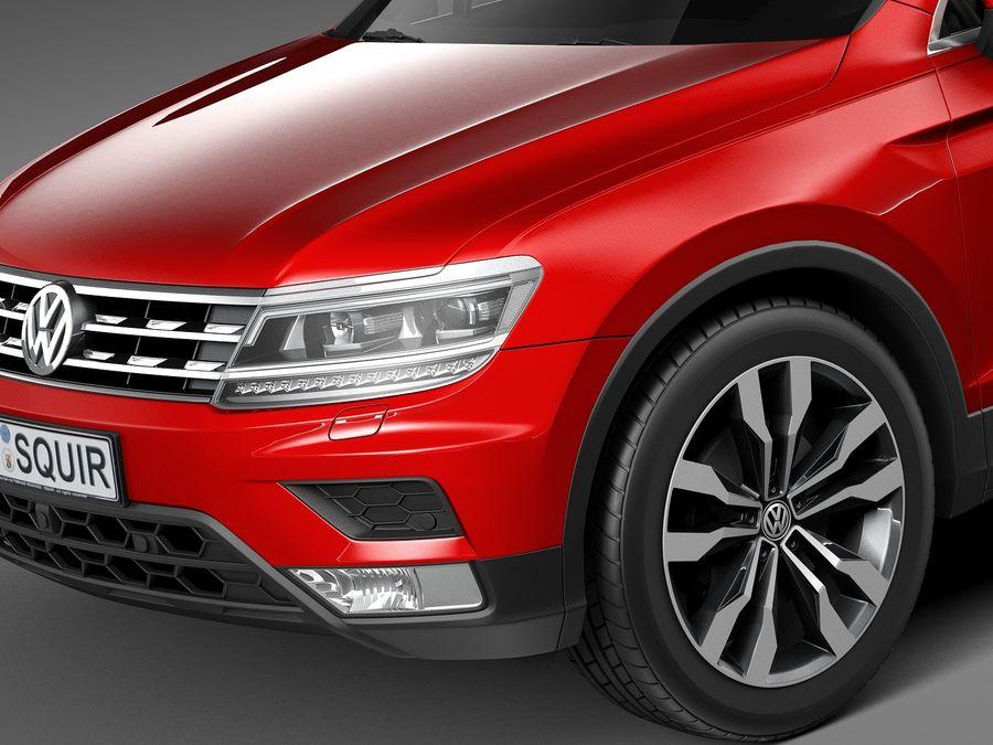 Volkswagen Tiguan 2017 royalty-free 3d model - Preview no. 3