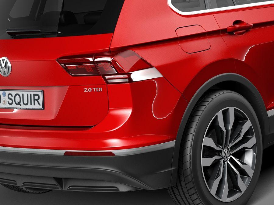 Volkswagen Tiguan 2017 royalty-free 3d model - Preview no. 4