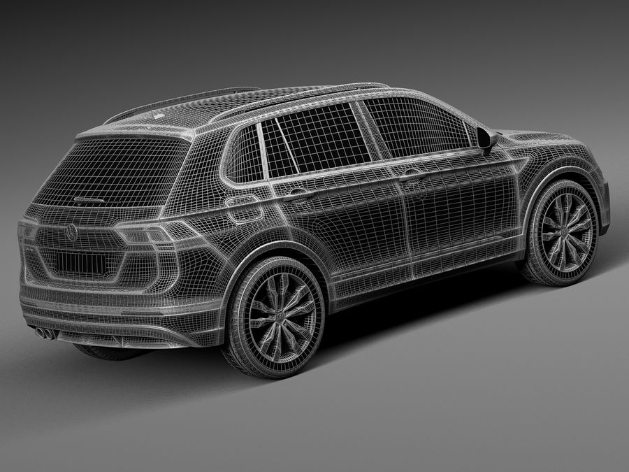 Volkswagen Tiguan 2017 royalty-free 3d model - Preview no. 14