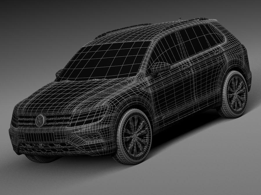 Volkswagen Tiguan 2017 royalty-free 3d model - Preview no. 15