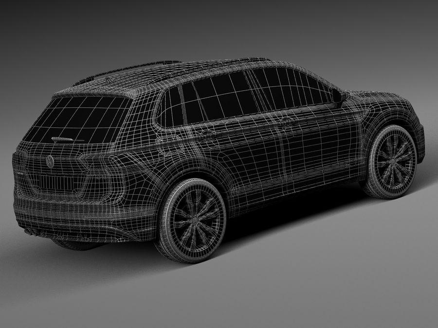 Volkswagen Tiguan 2017 royalty-free 3d model - Preview no. 16