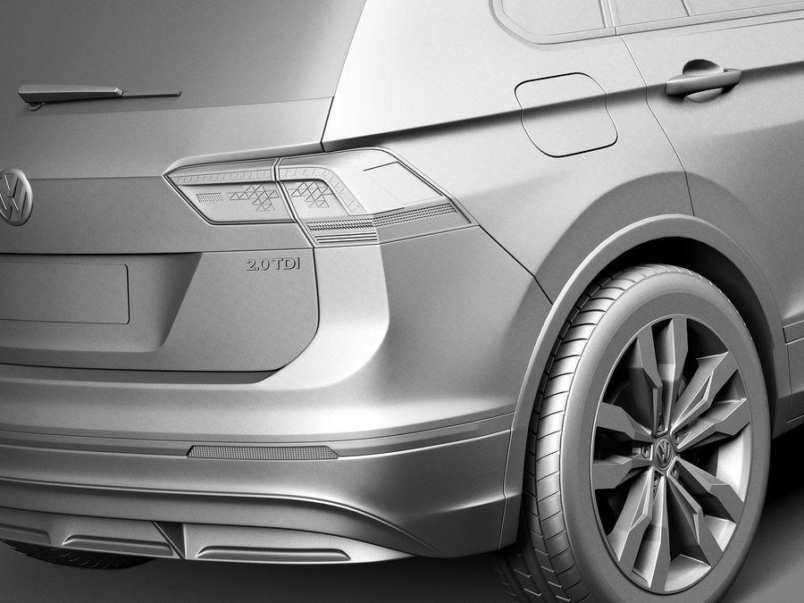 Volkswagen Tiguan 2017 royalty-free 3d model - Preview no. 11