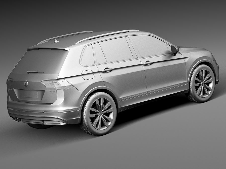 Volkswagen Tiguan 2017 royalty-free 3d model - Preview no. 12