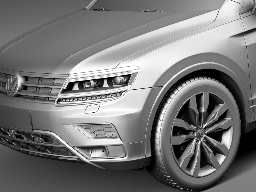Volkswagen Tiguan 2017 royalty-free 3d model - Preview no. 10