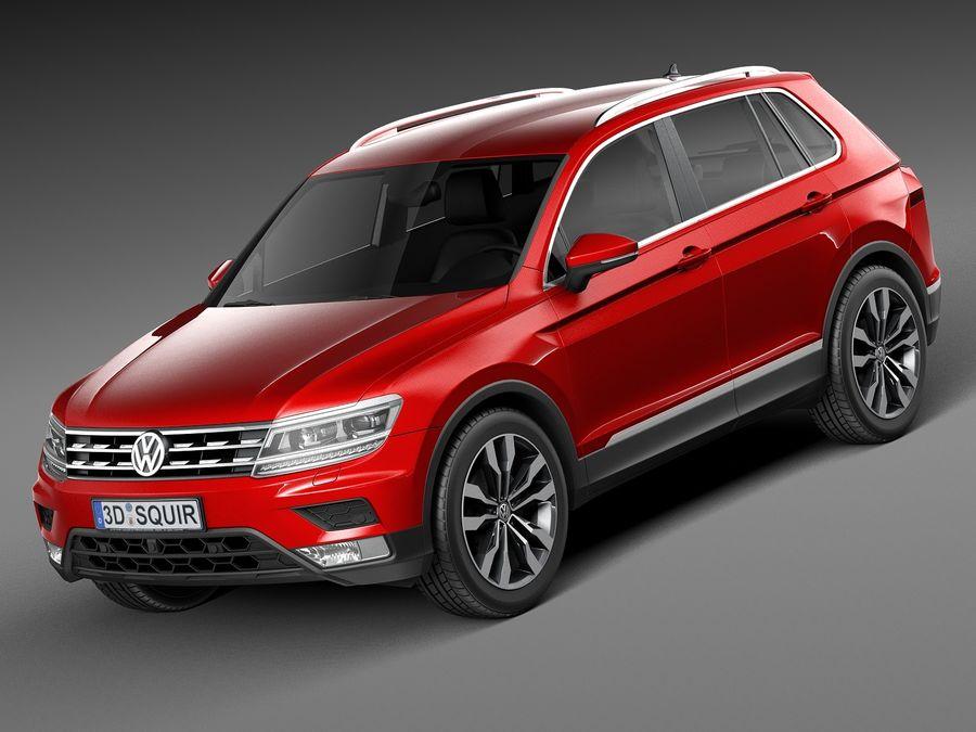 Volkswagen Tiguan 2017 royalty-free 3d model - Preview no. 1