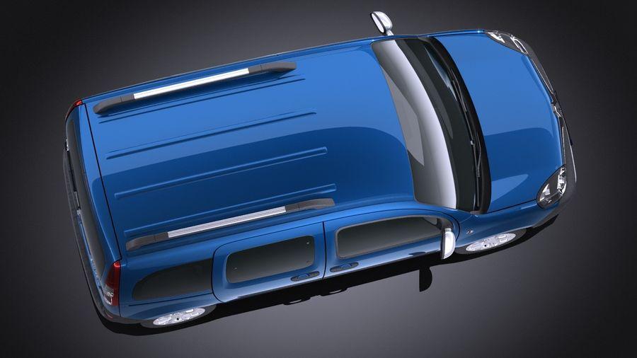 雷诺Kangoo 2016 royalty-free 3d model - Preview no. 8