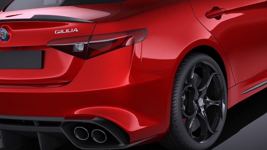 Alfa Romeo Giulia Quadrifoglio 2017 royalty-free 3d model - Preview no. 4