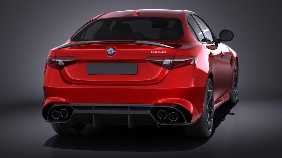 Alfa Romeo Giulia Quadrifoglio 2017 royalty-free 3d model - Preview no. 5