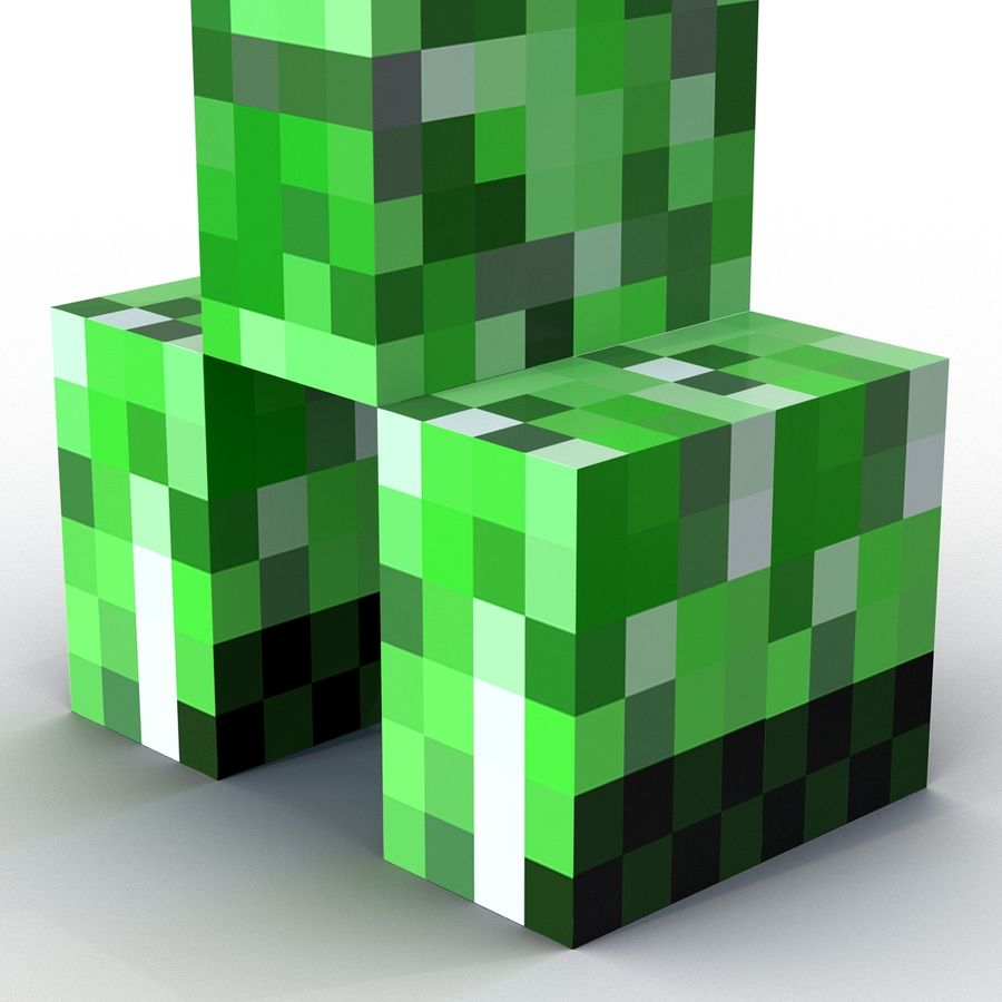Minecraft Creeper royalty-free 3d model - Preview no. 9
