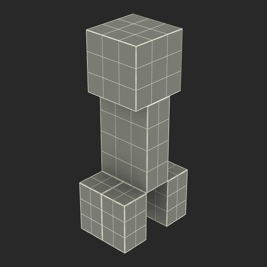 Minecraft Creeper royalty-free 3d model - Preview no. 17