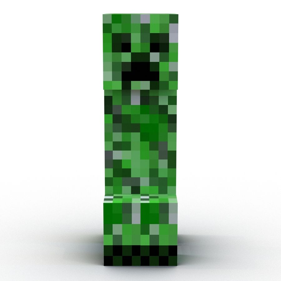 Minecraft Creeper royalty-free 3d model - Preview no. 6