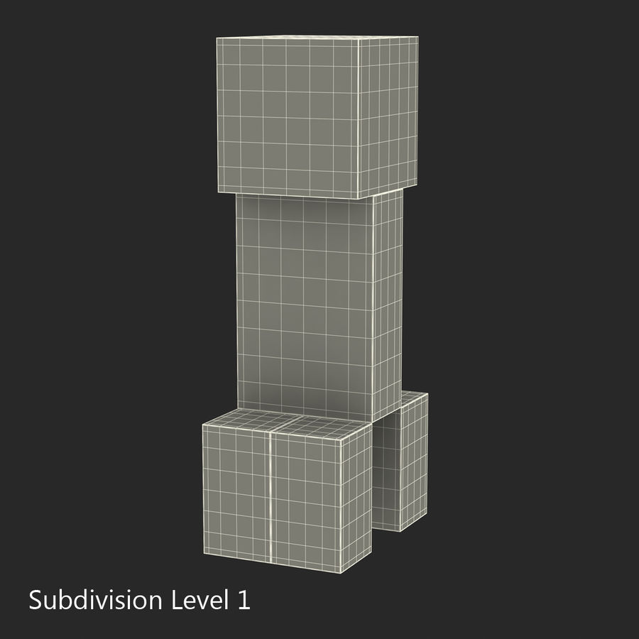 Minecraft Creeper royalty-free 3d model - Preview no. 12