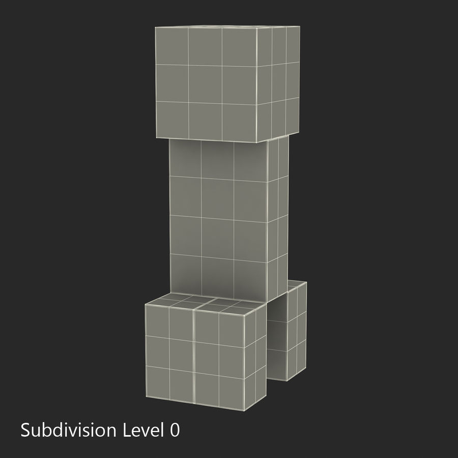 Minecraft Creeper royalty-free 3d model - Preview no. 11